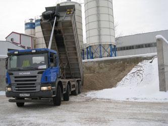 Доставка сухих строительных смесей в Москва